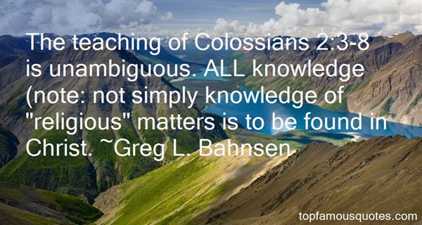 Greg L. Bahnsen Quotes