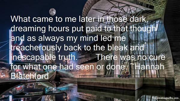Hannah Blatchford Quotes