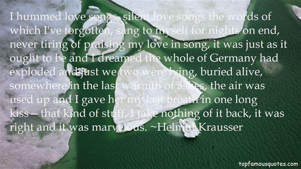 Helmut Krausser Quotes