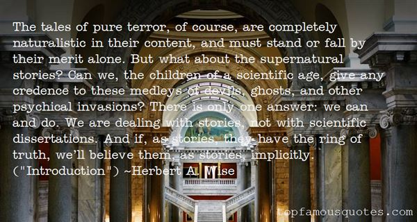 Herbert A. Wise Quotes