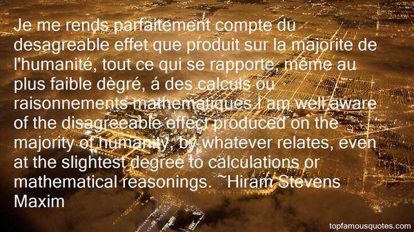 Hiram Stevens Maxim Quotes