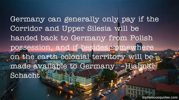 Hjalmar Schacht Quotes