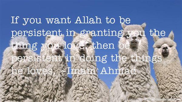 Imam Ahmad Quotes