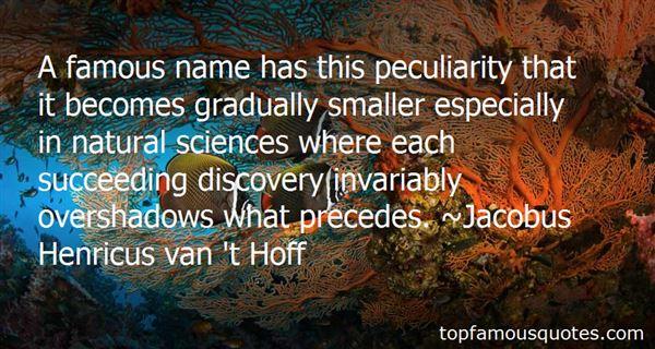 Jacobus Henricus Van 't Hoff Quotes