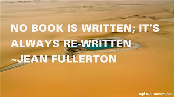 Jean Fullerton Quotes