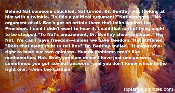 Jean Lee Latham Quotes