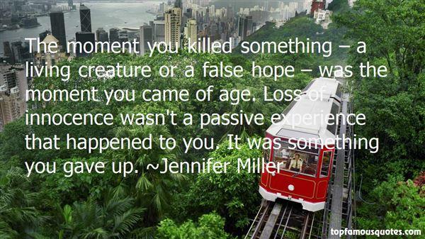Jennifer Miller Quotes