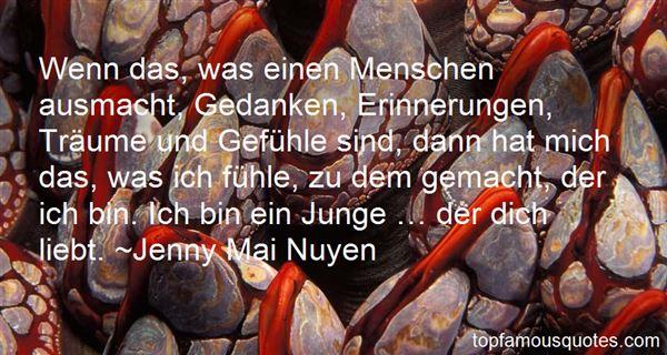Jenny Mai Nuyen Quotes
