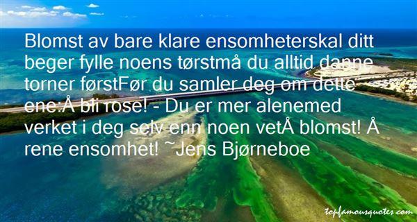 Jens Bjørneboe Quotes