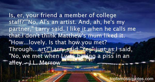 J.L. Merrow Quotes