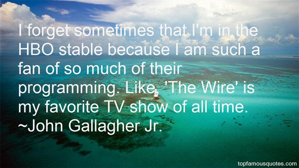 John Gallagher Jr. Quotes