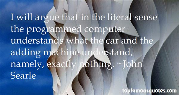 John Searle Quotes