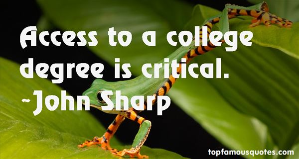 John Sharp Quotes