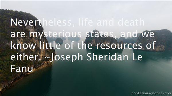 Joseph Sheridan Le Fanu Quotes