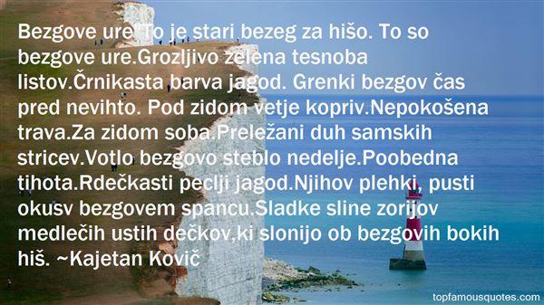 Kajetan Kovič Quotes