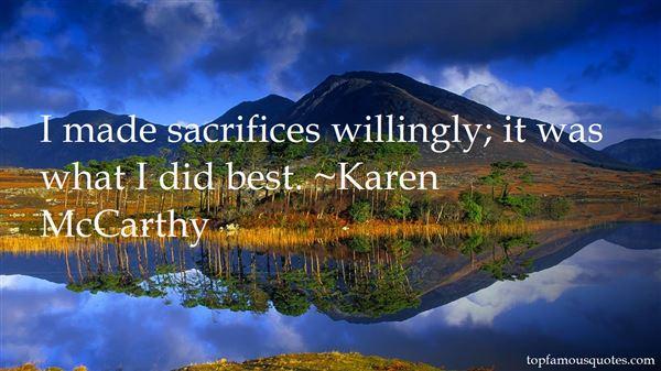 Karen McCarthy Quotes