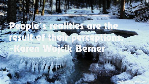 Karen Wojcik Berner Quotes