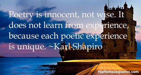 Karl Shapiro Quotes
