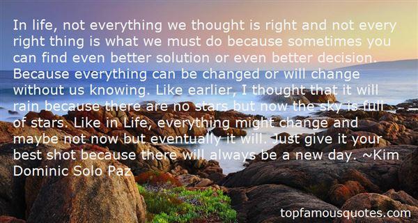 Kim Dominic Solo Paz Quotes