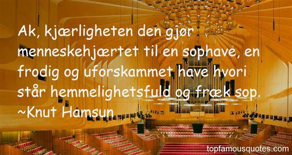 Knut Hamsun Quotes