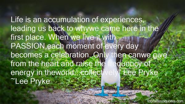 Lee Pryke Quotes