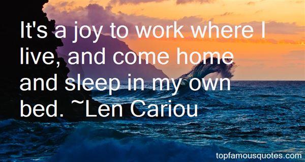 Len Cariou Quotes