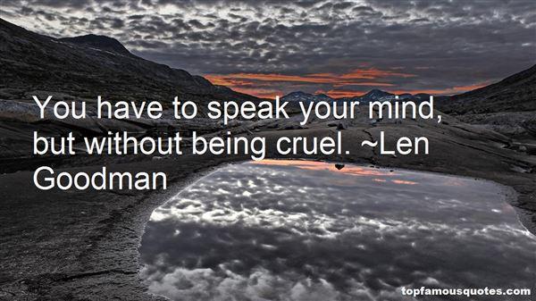 Len Goodman Quotes