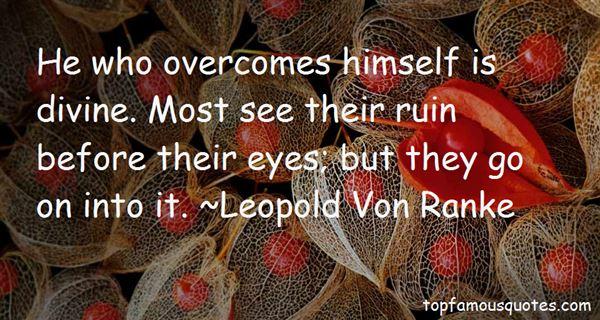 Leopold Von Ranke Quotes