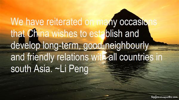 Li Peng Quotes