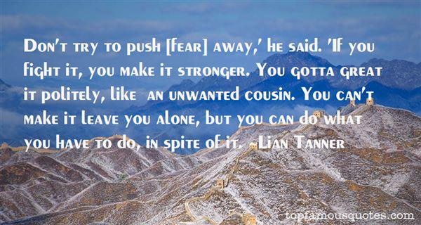 Lian Tanner Quotes