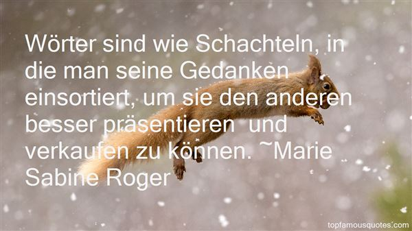 Marie Sabine Roger Quotes