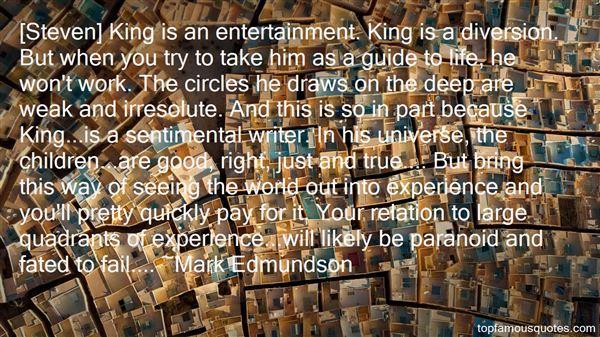 Mark Edmundson Quotes