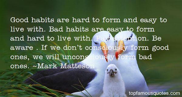 Mark Matteson Quotes
