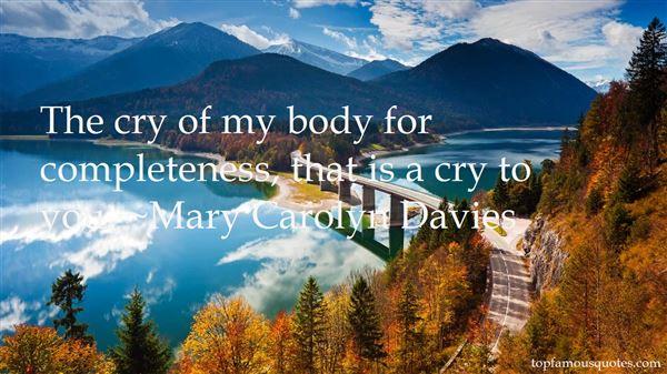 Mary Carolyn Davies Quotes