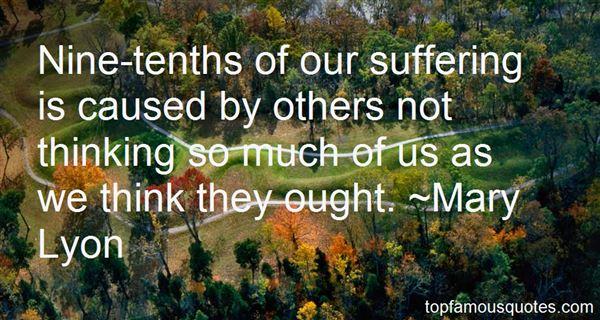 Mary Lyon Quotes