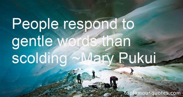 Mary Pukui Quotes