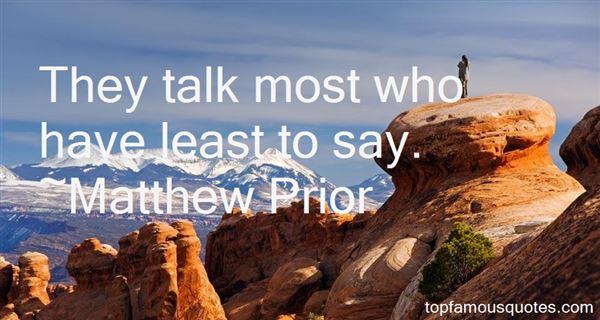 Matthew Prior Quotes