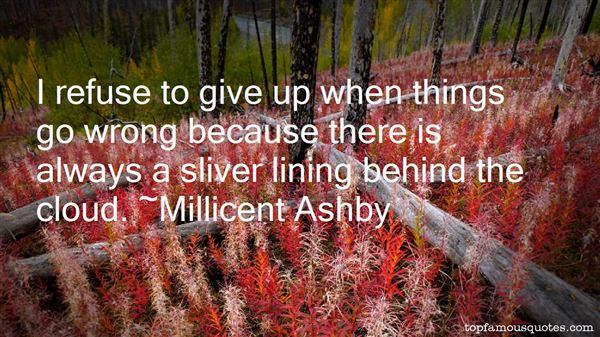 Millicent Ashby Quotes