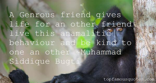 Muhammad Siddique Bugti Quotes