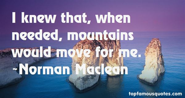 Norman Maclean Quotes
