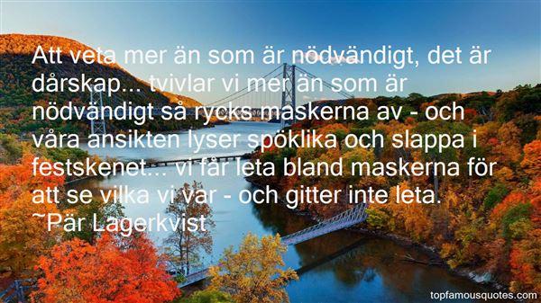 Pär Lagerkvist Quotes