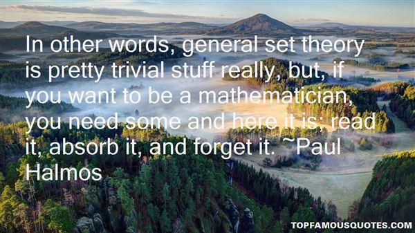 Paul Halmos Quotes