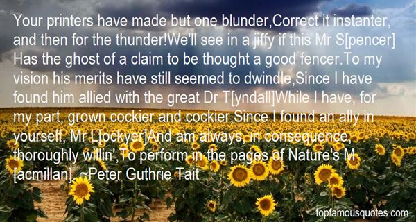 Peter Guthrie Tait Quotes