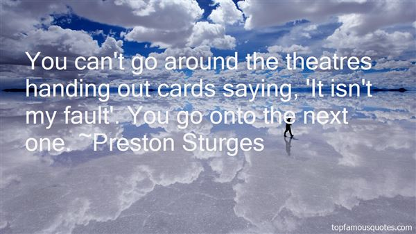 Preston Sturges Quotes
