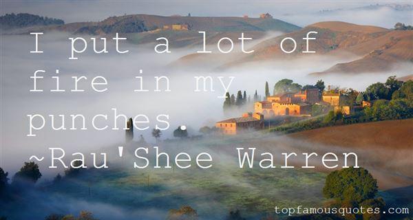 Rau'Shee Warren Quotes