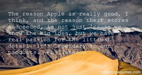 Ron Johnson Quotes