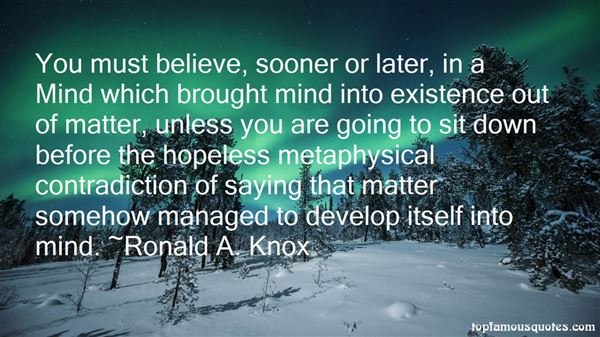 Ronald A. Knox Quotes