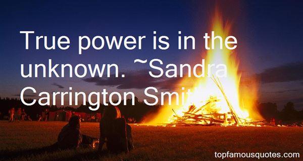 Sandra Carrington Smith Quotes