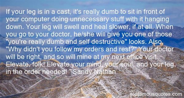 Sandy Nathan Quotes