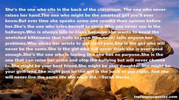 Sarah Mares Quotes